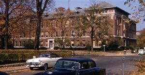 The Physics Building at the University of Illinois at Urbana, Champaign; photo courtesy R.W. Vook. ca. 1957.