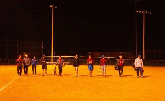 Members of the Wild Bohr's Softball Team 2014