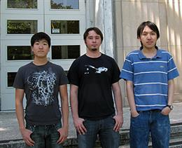 ECE ECE seniors (from left) Brian Chung, Richard Otap, and Ruben Zhao created a car operated by computer vision for the project in ECE 445: Senior Design. The team received the area award for robotics.