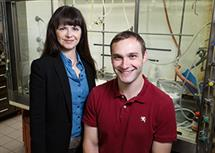 LAS professor of chemistry M. Christina White and graduate student Paul Gormisky developed a new catalyst that will help streamline the drug-discovery process. (Photo by L. Brian Stauffer.)