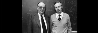 John Bardeen and Anthony J. Leggett, ca. 1982