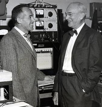 Dan Alpert and Wheeler Loomis in the Control System Laboratory