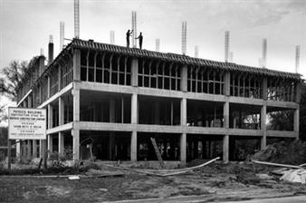 Phase I of the new Physics Building under construction