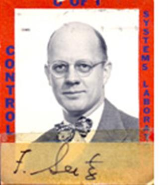 F. Seitz's CSL ID card photo