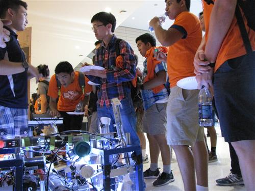 ECE ILLINOIS class of 2020 students learn how to get involved with iRobotics.