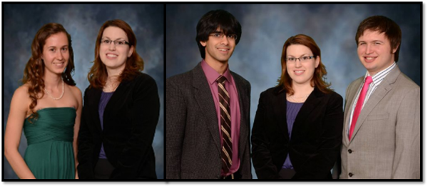 Lady Kelsey Erickson, Dr Jenny Amos, Neil Bhateja, Dr Jenny Amos, Isaac DuPree Photos edited from Memory Lane Photography(C) www.cuphotog.com