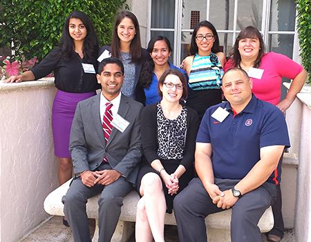 Award-winning UI team - Back row, left to right: Divya Tankasala, Amelia Johnson, Mallika Modak, Asha Kirchhoff, and Stephania Slania; Front row, left to right: Ravi Yada, Jenny Amos, and Dr. John Vozenilek.