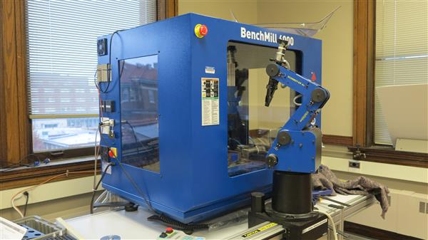 A BenchMill 6000, a CNC machining center, in the Flexible Manufacturing Lab.