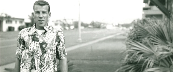 Wendell at Hickam Air Force Base circa 1954.