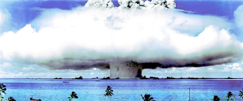 Operation Castle hydrogen bomb test at Bikini Atoll.