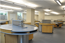 The renovation of Chemistry Annex included reconfiguration of instructional laboratories.