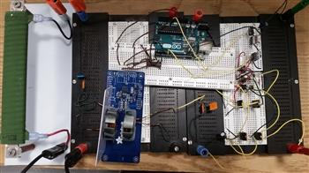 Thomas Navidi's WPT transmitter hardware prototype for the 'analysis of wireless and catenary power transfer systems for electrical vehicle range extension on rural highways.'