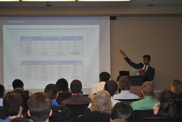 Jigar Patel presents his paper at the technical paper competition.