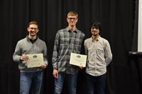 The Area Award for Photography is awarded to Andrew Elman, Eric Zhang and Nicholas Brucks for their 'Adjustable Focus, Intensity, and Gradient Light for Commercial Photography.'