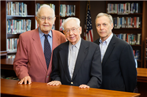 The University of Illinois is honoring three men who have helped preserve the history of the university. Recipients of the Chancellor's Medallion are, from left, Winton Solberg, history professor emeritus; Maynard Brichford, the first university archivist; and William Maher, the current University Archivist.