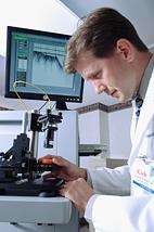 Stephen Boppart, a professor of electrical and computer engineering, of bioengineering, and of medicine at the U. of I., is leading research to develop a new near-infrared imaging technique that can be used to guide needle biopsies and for identifying tumor margins during surgery. The technique could have a significant impact in the way doctors detect, diagnose and treat breast cancer. Photo courtesy Carle Foundation