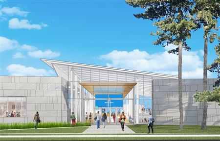 A conceptual drawing for the Siebel Center for Design.