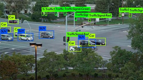 Competitors rivaled to detect objects including vehicles of all sizes, pedestrians, and traffic lights in traffic camera footage.