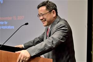 Shuming Nie was invested as the Grainger Distinguished Chair in Engineering Nov. 15.