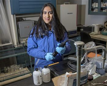 Nina Kshetry used AWARE to jumpstart her company, Ensaras, which develops analytical tools for wastewater treatment plant operations.