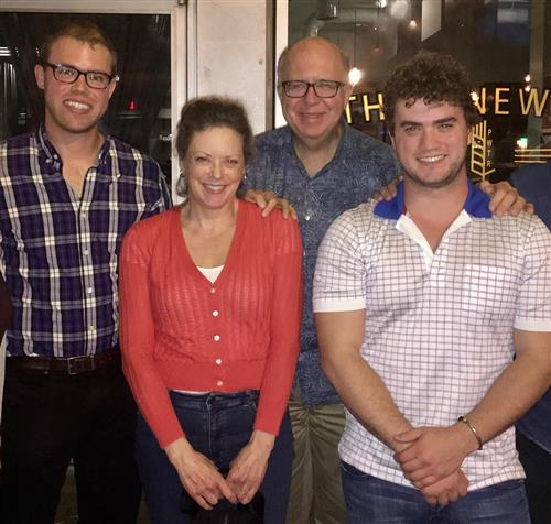 Dick and Janet with their two sons, Nate and Luke