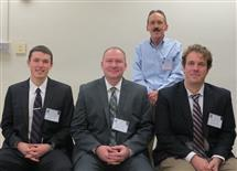 From left to right: James Kellher, Michael Morrow, Scott Burns, and Nicholas Lindsey