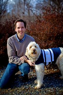 Phil Blizzard with his Goldendoodle, Dosi.
