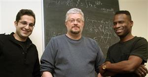 (L-R) Mohammad Edalati, Rob Leigh, and Philip Phillips Department of Physics, University of Illinois Photo by Rick Kubetz
