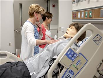 At the Jump Simulation Lab, students are exposed to all aspects of an actual patient room.