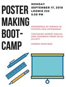 Poster making bootcamp Monday, September 17, 2018