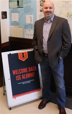 Brian Truesdale visits ISE during the 2018 Homecoming Weekend.