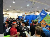Lots of recruiters at the Career Fair.