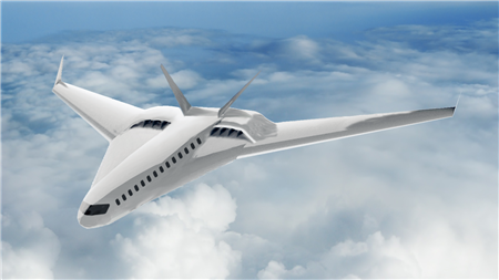 Artist�s rendering of an advanced commercial transport aircraft concept utilizing CHEETA systems.