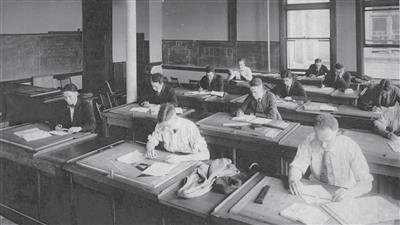 Civil Engineering Classroom, circa 1919