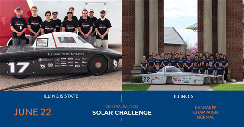 The Illini and ISU Solar Car teams