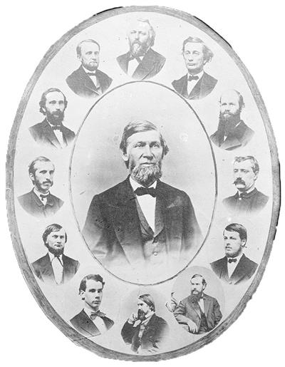 First faculty at the University of Illinois, 1869