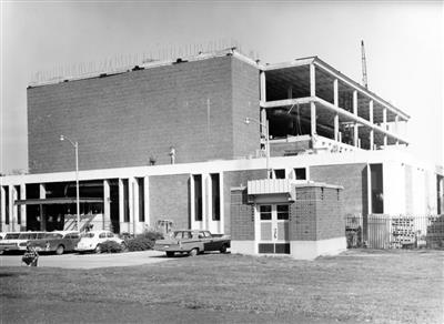 Newmark Lab under construction, October 1965