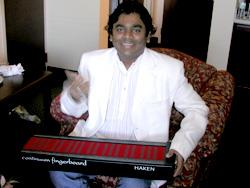 A.R. Rahman demonstrating the Continuum Fingerboard