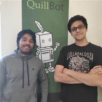 Anil Jason and David Silin are continuing to build Quillbot's brand, with about 330,000 coming to the site each month.