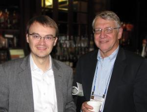 NPRE Assistant Prof. Tomasz Kozlowski with Elmer Lewis at the Winter 2011 ANS Meeting.