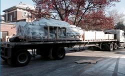 The HIDRA facility began arriving today on the Illinois campus.