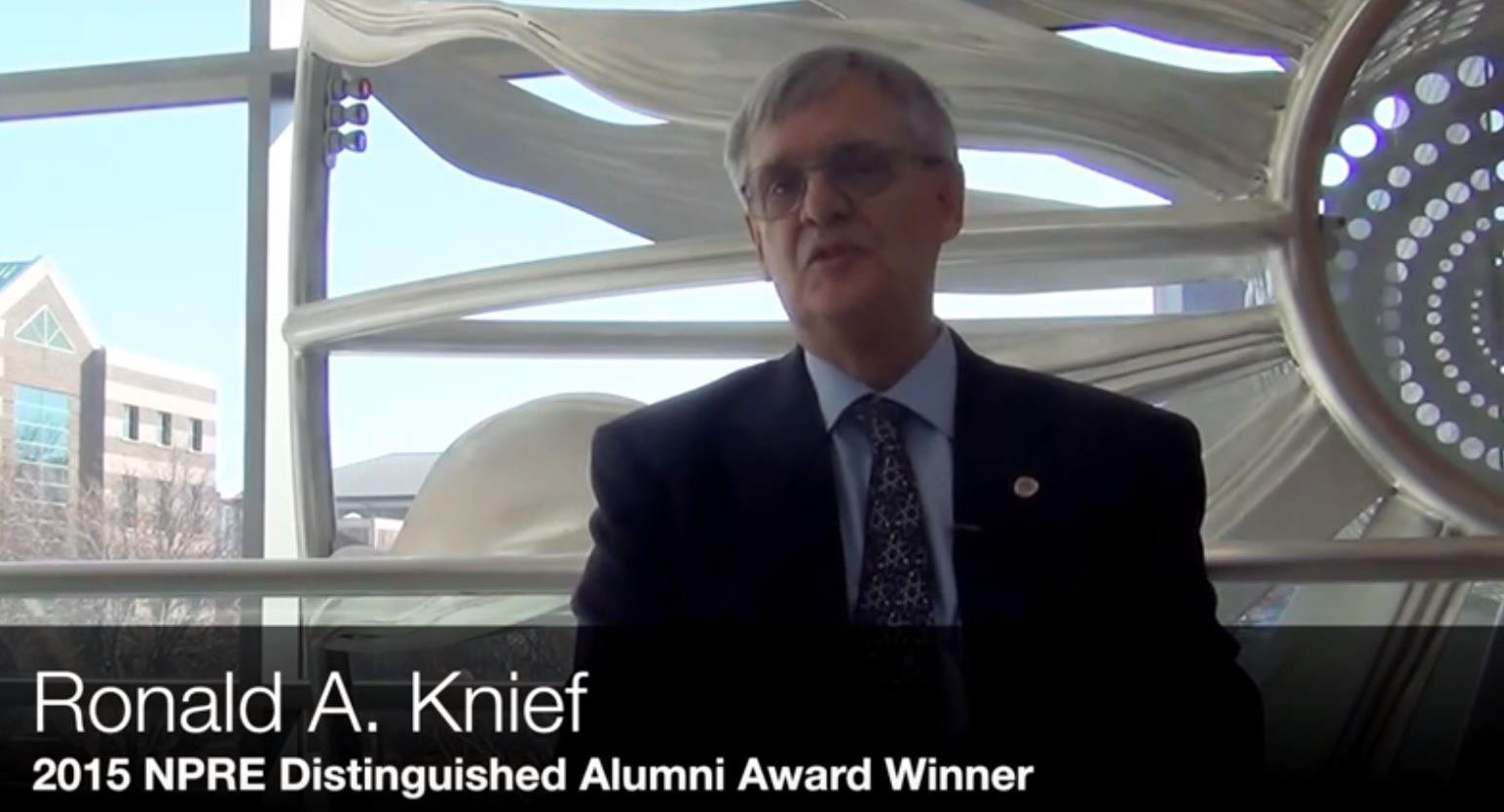 Knief Chosen as 2015 NPRE Distinguished Alumnus