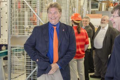 Prof. David Ruzic is all smiles at the success of HIDRA.
