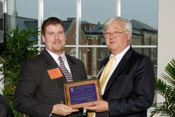 Pictured with ECE Department Head Richard Blahut, Steven Judd received the Grainger Power Engineering Award both last year and this year. Twenty-one ECE students are 2008 recipients of the $6,000 award.