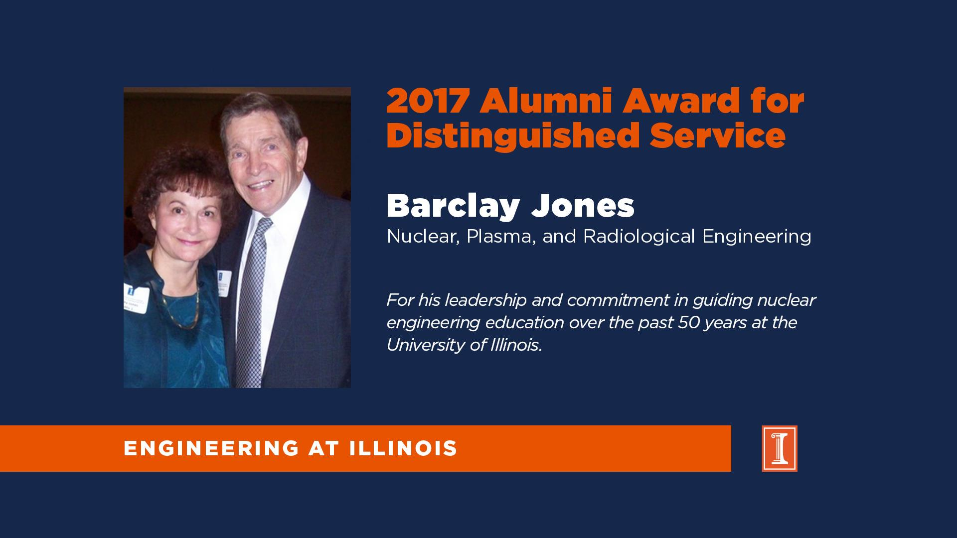 Engineering at Illinois Announces Barclay Jones as Distinguished Alumni Award Recipient