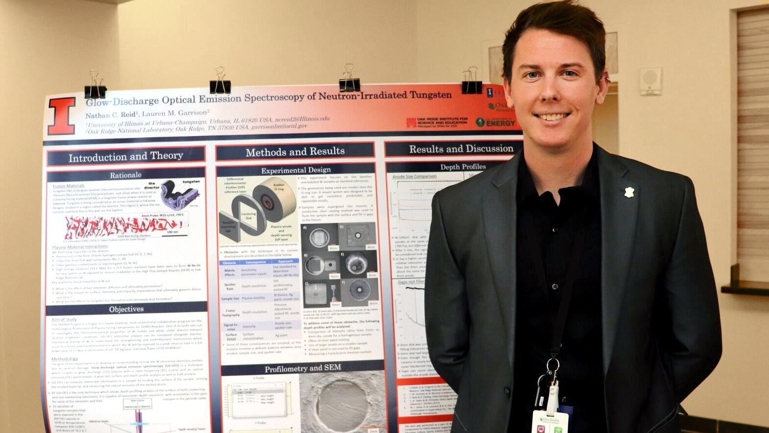 NPRE graduate student wins First Place in ORNL poster session