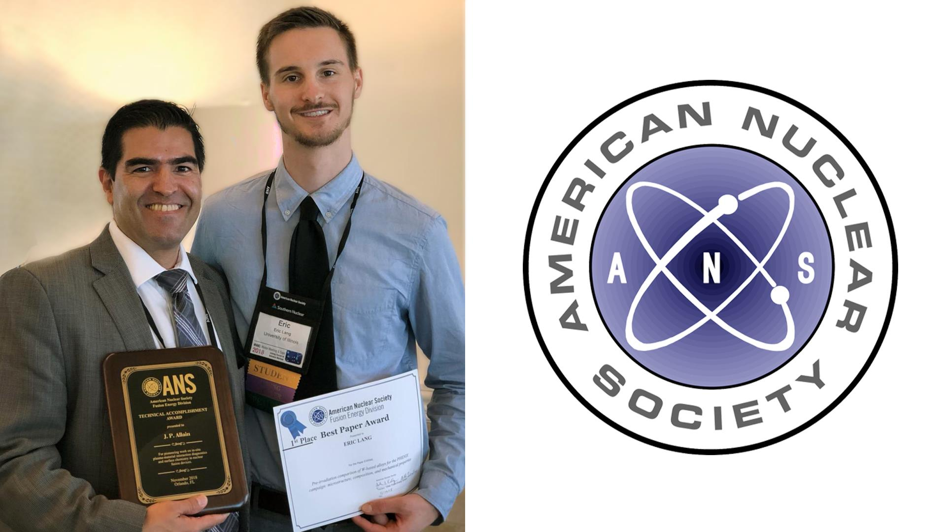 Eric Lang awarded Best Student Paper at national fusion energy meeting