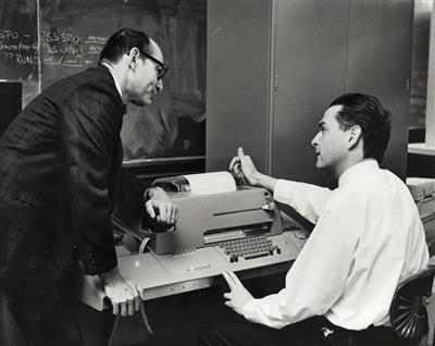 Professors Dick Shaffer (left) and Steven Fenves