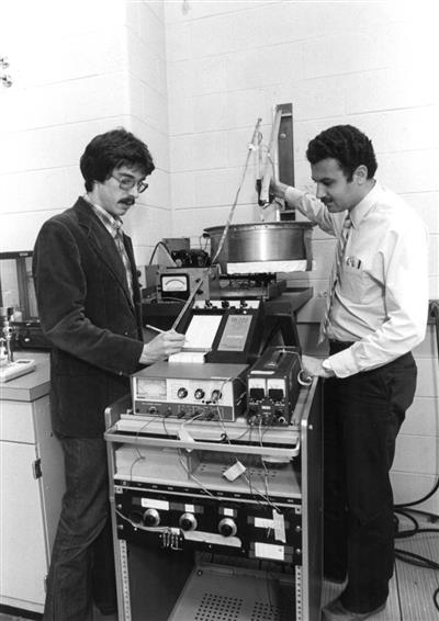 Assistant professors Vahid Alavian and Al Valocchi, 1982