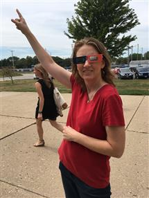 Jill during the Solar Eclipse in 2017.